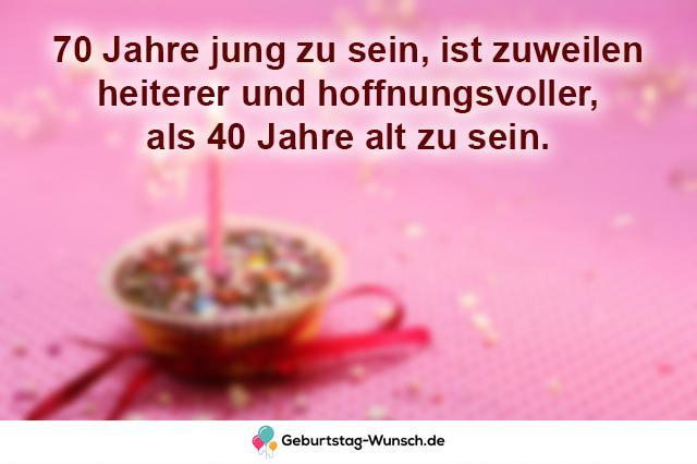 70 Jahre jung zu sein