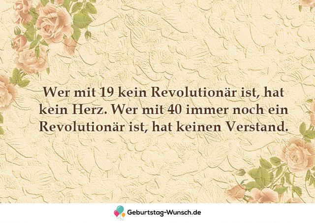Wer mit 19 kein Revolutionär