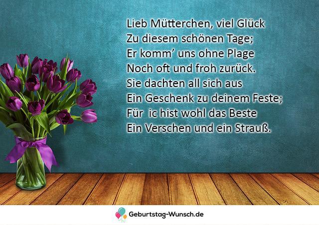 Lieb Mütterchen, viel Glück Zu
