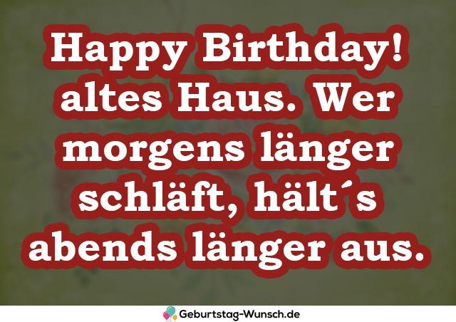 Happy Birthday! altes Haus