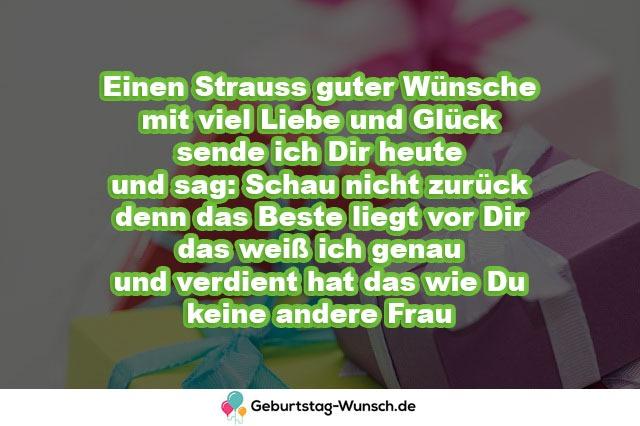 Einen Strauss guter Wünsche mit