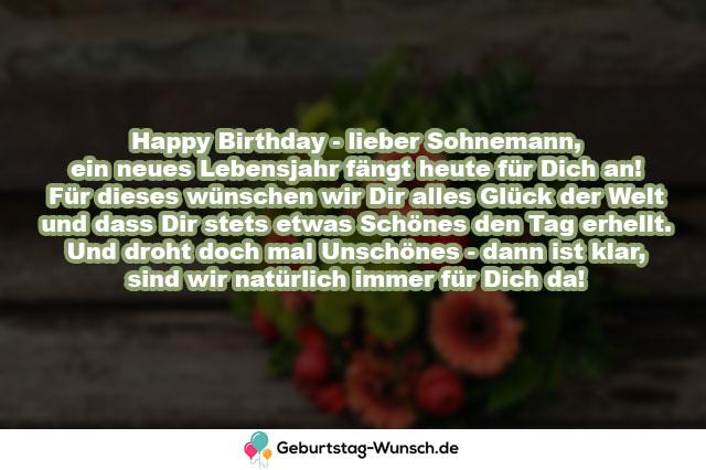 Happy Birthday – lieber Sohnemann, ein