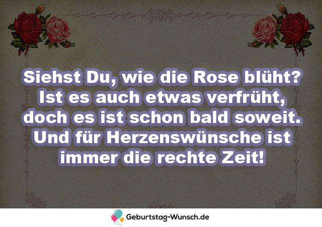 Siehst Du, wie die Rose