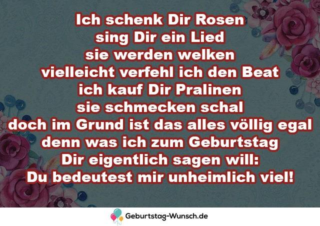 Ich schenk Dir Rosen sing