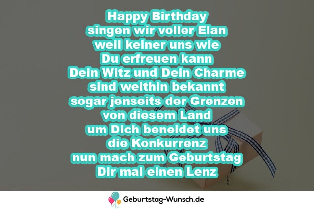 Happy Birthday singen wir voller