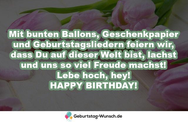 Mit bunten Ballons, Geschenkpapier und