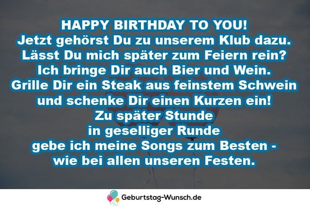 HAPPY BIRTHDAY TO YOU! Jetzt